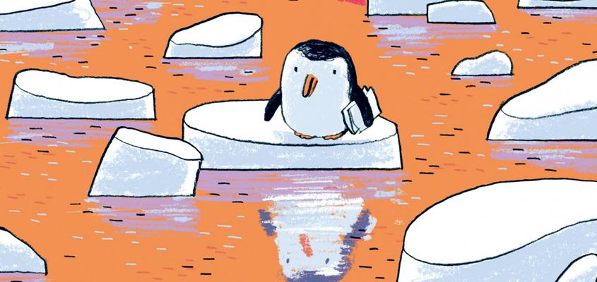 Megumi Iwasa Pagony Szeretettel udvozol pingvin-01